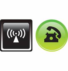 two communication buttons vector image vector image