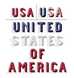 united states of america frame vector image