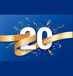 20th anniversary celebration banner template vector