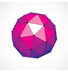 3d digital wireframe spherical object made using vector image