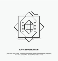 Abstract core fabrication formation forming icon vector
