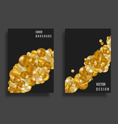 abstract cover design gradient golden balls vector image