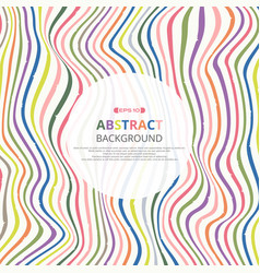 abstract of colorful vertical stripe lines vector image