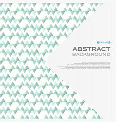 Abstract of soft blue triangle pattern background vector