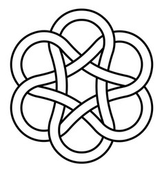 Ancient infinity knot pattern sign is a symbol vector