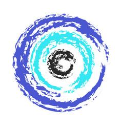 Artistic greek blue evil eye vector