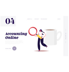 Auditing research and data analysis website vector