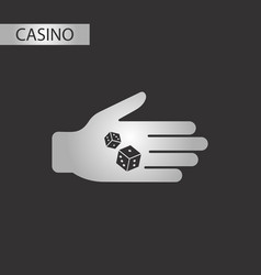 Black and white style dices in hand vector
