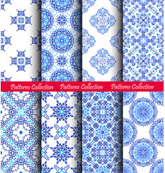 Blue weave patterns backgrounds vector