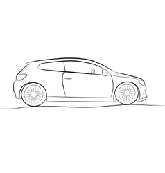 Car sketch vector