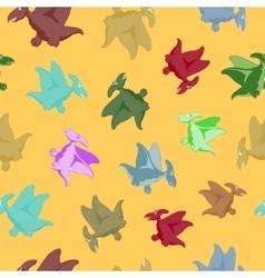 Cartoon flying dinosaur vector image