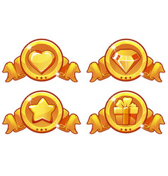 Cartoon gold icon design for game ui vector
