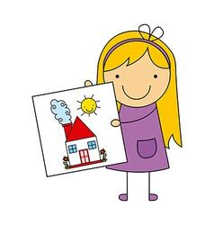 Children drawing design vector