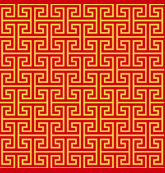 Chinese geometric seamless pattern vector