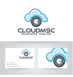 Cloud music logo vector