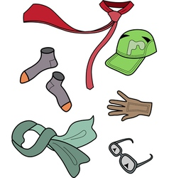 collection of men clothing and accessories vector image