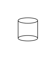 Cylinder icon vector