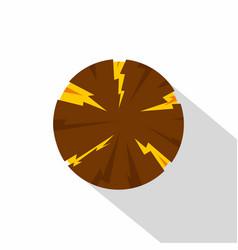 Dangerous planet icon flat style vector