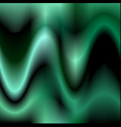 Dark green abstract wave background design vector image