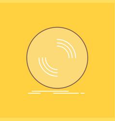 disc dj phonograph record vinyl flat line filled vector image