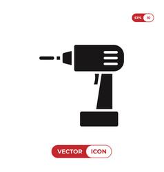 Drill icon vector