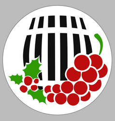 Drum wine box vector