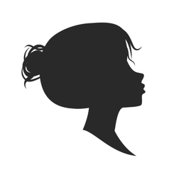 Female silhouette isolated on white vector