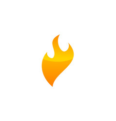 fire modern logo design template vector image