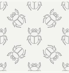 Flat line seamless pattern wildlife fauna vector