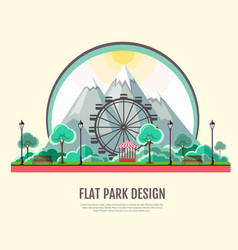 Flat style modern design of public park vector