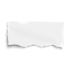 fragment of white paper for memo with soft shadow vector image