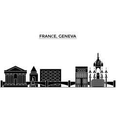 France geneva architecture city skyline vector
