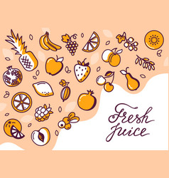 gift card with a place for lettering vector image