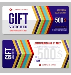 Gift discount voucher template vector image