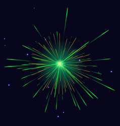 green golden vibrant sparkling fireworks vector image