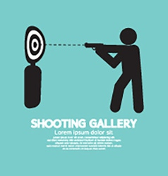 Gun Athlete At Shooting Gallery Symbol vector