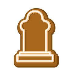 halloween cookie tombstone gingerbread rip vector image