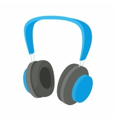 Headphone icon in cartoon style vector