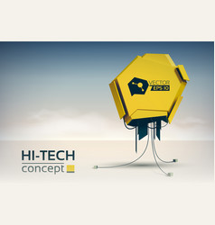 Hi-tech design concept vector