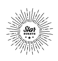 Hipster style vintage star burst with ray vector image