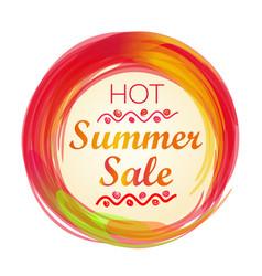 hot summer sale lettering vector image