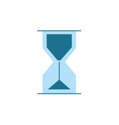 hourglass object design to know the time vector image