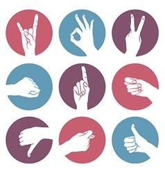 Human gestures vector