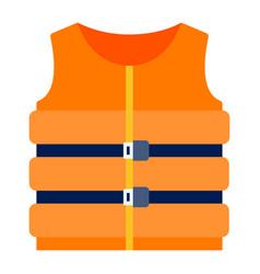 inflatable marine life jacket icon flat isolated vector image