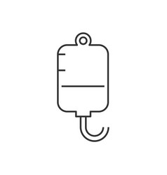 Infuse line icon on white background editable vector