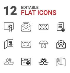 invitation icons vector image