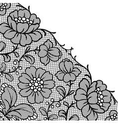 lace ornamental background with flowers vector image