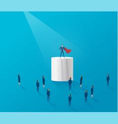 Leadership concept businessman standing vector