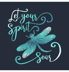 Let your spirit soar vector image