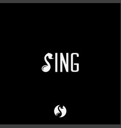 letter s for sing singing logo vector image